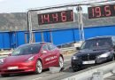Watch Tesla Model 3 Performance Race Coal-Rolling 400-HP BMW 535d