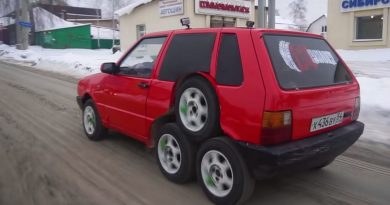 Behold: An Eight-Wheeled Fiat Built In Russia