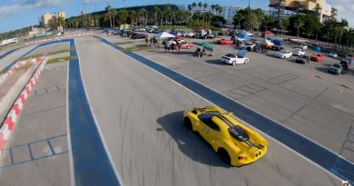 See Ford GT Race A Drone, Tesla Model 3 At Autocross Track