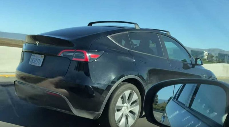 See The Tesla Model Y With Roof Rack Attached
