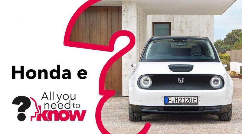 Honda e: Everything You Need To Know