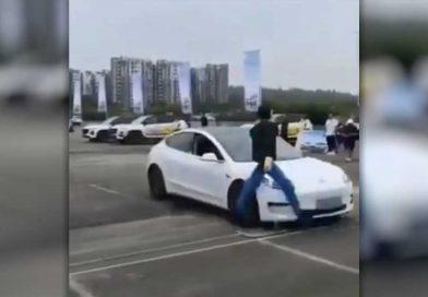 Watch a Tesla Model 3 Fail an Automatic Braking Test and Vaporize a Robot Pedestrian