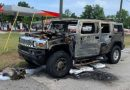Hummer H2 Loaded with Gasoline Containers Catches on Fire in Florida